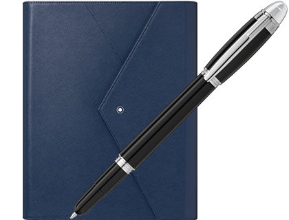 BOLIGRAFO MONTBLANC STARWALKER ELECTRONIC + NOTEBOOK AZUL